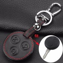 3 Buttons Replacement Remote Leather Key Shell Cover Case SMART Fortwo key shell Mercedes Benz Holder