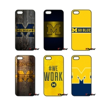For iPod Touch iPhone 4 4S 5 5S 5C SE 6 6S 7 Plus Samung Galaxy A3 A5 J3 J5 J7 2016 2017 Go Blue Go Michigan Logo Case Cover(China)