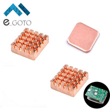 1 Set Cooling Kit of Pure Copper Heatsinks 3pcs Cooler Heat Sink for Raspberry Pi 3 Model B