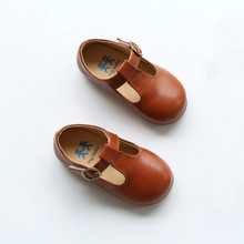 Baby Girls Shoes 2017 New Leather Spring Kids Toddlers Moccasins Soft Baby Shoes Princess Mary Jane Shoes Brown Black Loafers