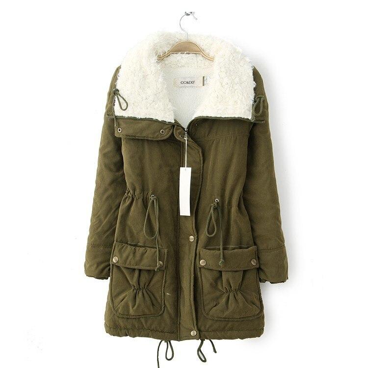2017 Winter Jacket Women Cotton Padded  Parkas Artificial Lamb Hair Wadded Coat /jacket Ladies Work Clothes Warm Winter CoatÎäåæäà è àêñåññóàðû<br><br>