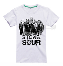 Rockers Cool Stone Sour Rock Brand men women shirt 3D illustration rocker fitness Hardrock heavy Dark Metal 100%Cotton(China)