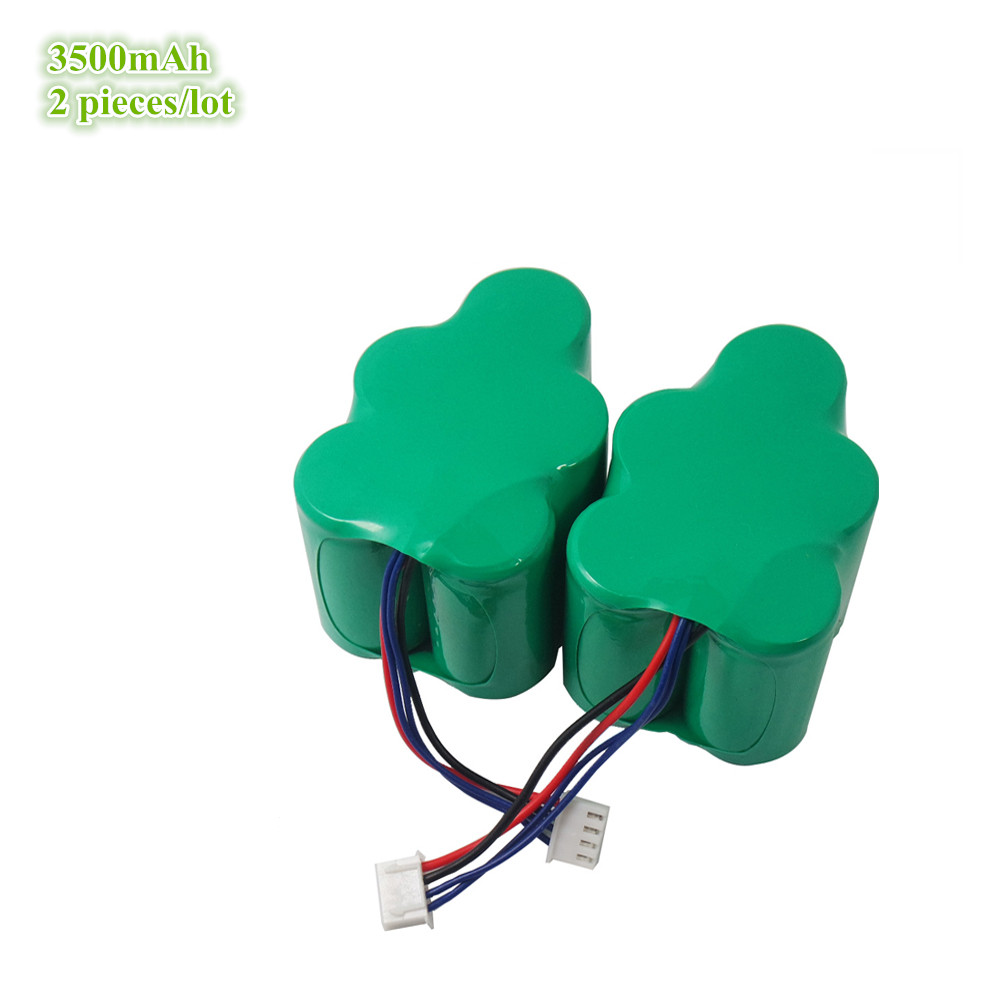 2 Pieces/lot 6V 3500mAh NI-MH Battery Pack replacement for Ecovacs Necchi Deepoo DEEBOT D66 D68 D73 D76 720 730 760<br>