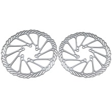 2Pcs Bike Bicycle Cycling Clean Sweep Disc Brake Rotors 160mm G3 Bicycle Parts Ultralight Rotor for Outdoor Cycling Silver