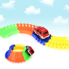 Brand New Racing Track Vehicle 28PCS NO.218 DIY Racing Track Assembly Flexible Twister Car Toy Educational Toys Gifts for Kids