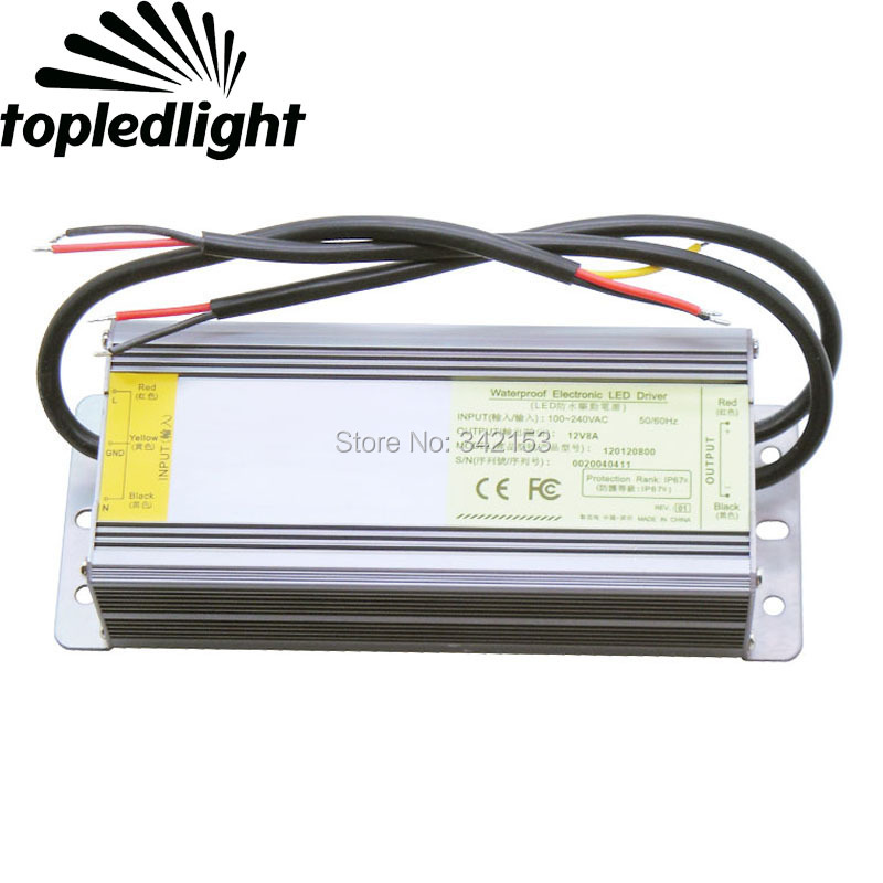 DC12V 8A 96W Dual Output AC100-240V Switching Power Supply Converter IP67 Waterproof Outdoor Usage Portable Lighting Accessories<br>