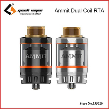 Original Geekvape Ammit Dual Coil RTA Tank 3ml/6ml Electronic Cigarette Atomizer Support Both Dual and Single Coil Ammit tank