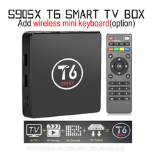 2017 T6 TV Box Amlogic S905X Quad Core TV Box 1/8GB 2/16GB WiFi Smart TV Media Player Miracast T6 Set-top Box PK X96+Keyboard