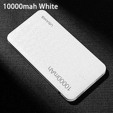 Power bank CD21 for xiaomi Mi,USAMS Mosaic Ultra Slim 10000mAh Powerbank for iPhone 4 5 6 7 SE Samsung Mobile Phone(China)