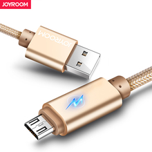 Joyroom Micro USB Cable For Xiaomi Samsung LED Charge USB Data Cable 2m 1m Android Micro usb Charging Cable Mobile Phone Cables(China)