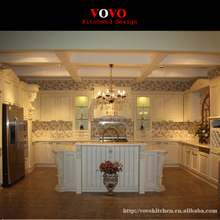 White solid wood complete kitchen remodeling manufacturer
