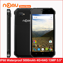 NOMU S30 IP68 Waterproof 4G Smartphone Android 6.0 MTK6755 Octa Core 4GB+64GB 13MP 5000mAh 1920*1080Px 5.5 Inches Mobile Phone