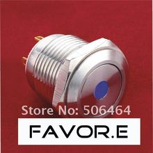 16mm Stainless steel IP65 dot illuminated Pushbutton Switch PIN terminal