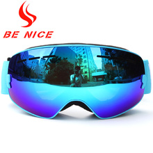 Benice Kids Ski Goggles Small Size for Children Double UV400 Anti-fog Mask Glasses Skiing Girls Boys Snowboard Goggle Lens Poins(China)