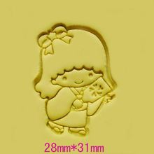 Kawaii beautiful little girl DIY handmade Resin soap stamp mold chapter mini diy patterns