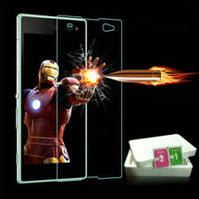 C3 0.3mm Tempered Glass Film for Sony Xperia C3 S55T D2533 Arc Edge 2.5D Anti Shatter Screen Protector Film Clean Kit Retail Box