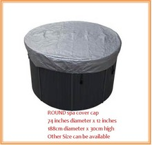 Round shape hot tub cover cap prevent snow, rain and dust,OD: 1880mm x300 mm(H) ,can customize spa, swim spa cover bag(China)