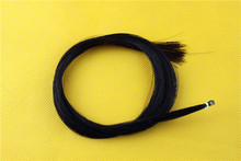 5 hanks Black Horse Hair Horse Tail Hair Violin Bow Parts Mongolian Horse