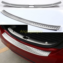 Car Accessories Rear Bumper Protector Trunk Guard Sill Plate Scuff Trim for 2015-2016 Mercedes Benz C class W205