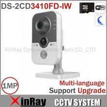 Mini Wireless IP Camera DS-2CD3410FD-IW 720P Built in Microphone and Speaker, Two Way talk IR IP Camera Support Russia Sending