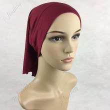 Inner Muslim jersey Hijab Cap Islamic Head Wear Hat Underscarf Colors,New style of tube cap PH073