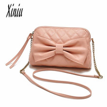 Women Messenger Bag Ladies Soft Leather Handbag Bow Purse Girl Satchel Crossbody Shoulder Tote bolsa feminina Sacos Senhoras bag