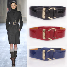 Buy Fashion elastic japanned leather woman belt female genuine leather leather belt woman decoration black wide womens belts for $14.28 in AliExpress store