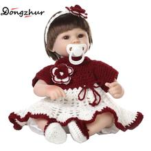 Dongzhur 42cm Npkdoll Solid Silicone Reborn Babies Npk Doll Silicone Reborn Baby Dolls Boneca Reborn Silicone Completa For Girls(China)