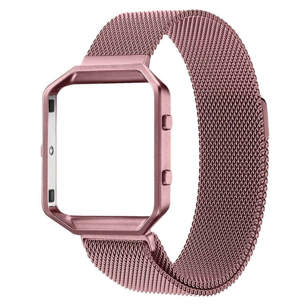 V-MORO Milanese Loop Watch Band With Frame for  Fitbit Blaze Fitness Tracker smart watch<br><br>Aliexpress