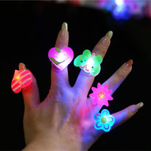 3PCS Children 's Toys Variety Styles Luminous Small Gifts LED Flash Rings Cartoon Ring Lamps flashing Boy Girl Finger Lamp(China)
