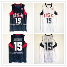 #15 Carmelo Anthony #9 Dwyane Wade 2008 Beijing Olympics Dream Team USA Throwback Basketball Jersey US Size S-XXL(China)