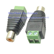 CAT5 To Camera CCTV Video AV Balun Phono RCA female jack Connector Adapter , RCA female to Terminal Block 100pcs, Free shipping(China)