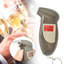 GREENWON HOT sale Digital LCD Alcohol Breath Analyzer Breathalyzer Tester Keychain Audible Alert(China)