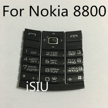 iSIU Replacement Mobile Phone Keyboard For Nokia 8800 Keypad Repair Cover Accessories 8800 Housing Russian Letters Black