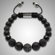Wholesale African black Ball Beads Shamballa Bracelets for Women Men Personalized Shamballa Jewelry Free Shipping NY-B-488