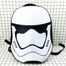 2017 Fashion Black and white Children's Cartoon Anime Bag Kid's School Backpack 3D Star Wars Backpacks(China)