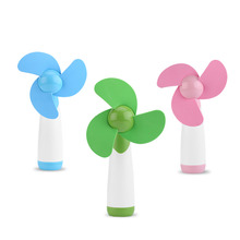 Portable Handheld Mini Cooling Cool Fan Two AA Battery Fans Operated for Home Office Travel Games Accessories
