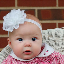 1PC  Girl's Hair Accessories Flower Hairband Newborn Headband princess Headband Elastic Flower Hair Bands W064