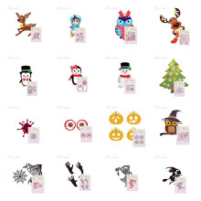 25 Designs Christmas & Halloween Customized Metal Cutting Dies Stencils for DIY Scrapbook Paper album Craft Embossing Dies Cut