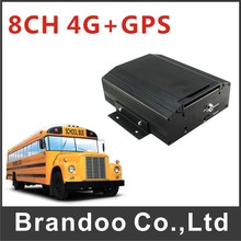 4G free client software h.264 dvr, 8ch vehicle car dvr
