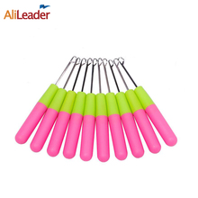 Crochet Braid Needle Use For Human Hair Extension Tools Wig Hook Needle Threader Knitting Crochet Needle For Hair 100Pcs/lot(China)