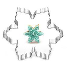 Delicate Stainless Steel Snow Shape Plaque Cutter Cookie Frame Cake Mold Snowflake Pastry Baking Mould 1Pc