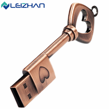 LEIZHAN 2.0 Metal USB Flash Drive Waterproof Metal Pendrive 4G 8G 16G 32G 64G USB Flash Drive USB Memory Stick U Disk(China)