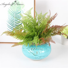 Simulation persian leaves green plant high - grade small bouquet artificial plant wedding decoration for home hotel party decor(China)