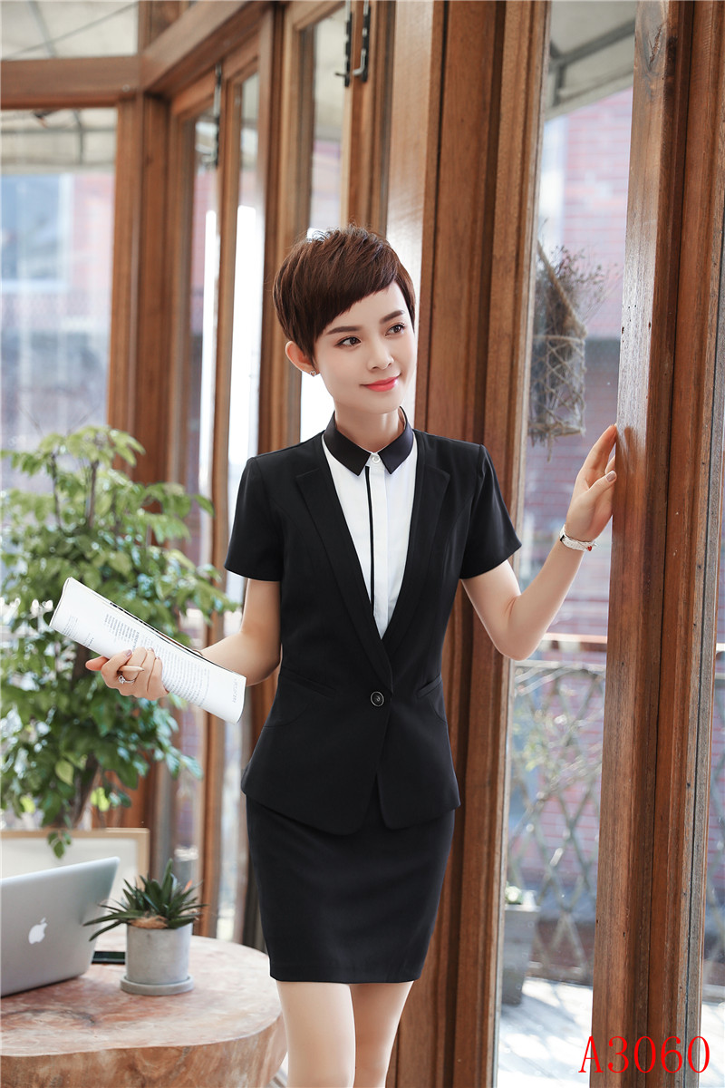 d8a9c2d99493 2019 Summer Uniform Styles Formal Blazers With Tops And Skirt Career ...