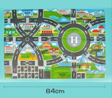 Children Crawling map traffic tools map city map car map Non woven fabric waterproof folding interactive toys only the map(China)