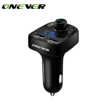 Onever Bluetooth Car Kit FM Transmitter MP3 Player With LED Dual USB 4.1A Charger Car Kit Handsfre Micro SD TF Music Playing