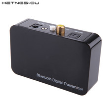 HETNGSYOU 4.0 APTX Bluetooth Digital Transmitter A2DP Stereo Wireless Audio Music Sender via Optical Coaxial 3.5mm Output TV DVD(China)