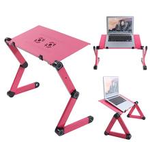 Popular Laptop Desk 360 Degree Adjustable Folding Computer Desk Table Stand Portable Bed Tray For Home Office