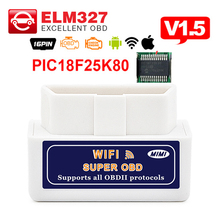 A+ quality ELM327 WIFI with PIC18F25K80 chip V1.5 mini ELM 327 Auto diagnostic tool OBD2 code reader for Android & IOS System